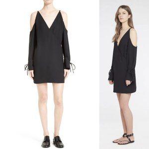 IRO Lebeca Cold Shoulder Shift Dress Black Strappy